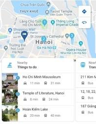 Google Hotel Search: Nearby Things to do