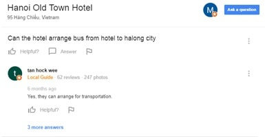 A Google Hotel Search: Q&A