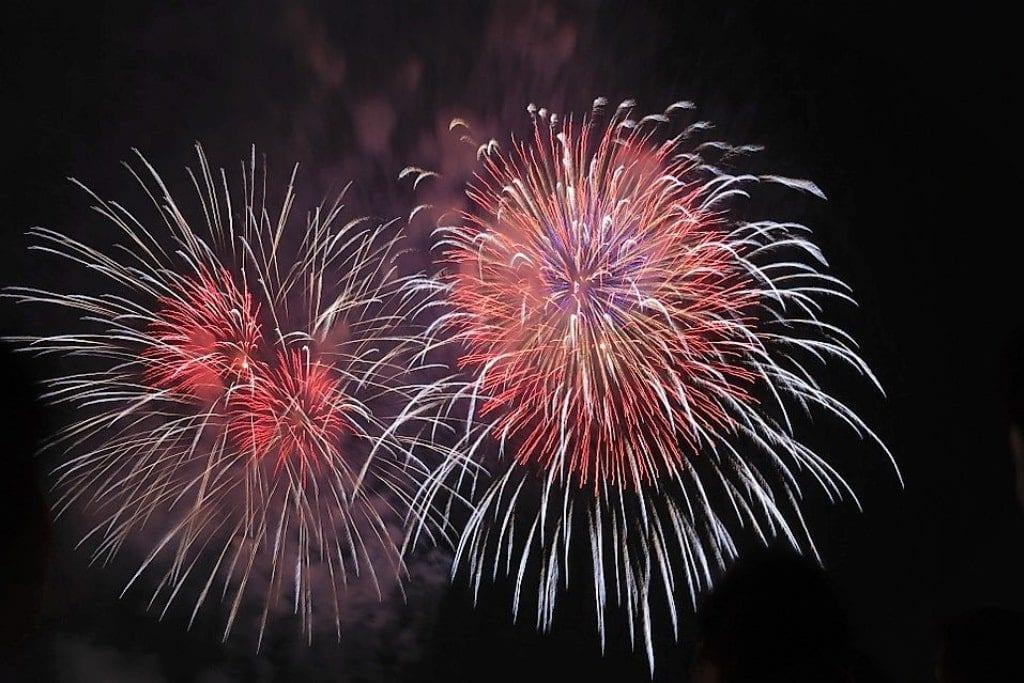Fireworks Western New Year in Vietnam